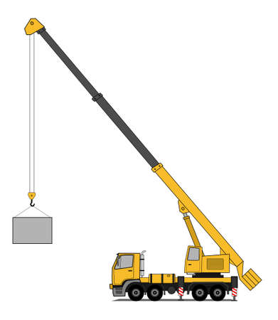 construction crane: Crane truck