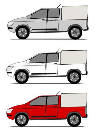 camioneta pick up: Pickup coche Vectores