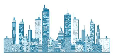 City skyline Stock Vector - 16214174