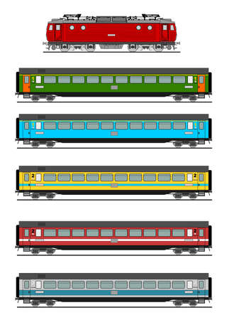 high speed railway: Passenger train Illustration