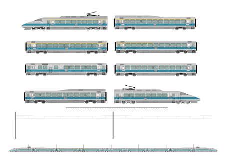 High speed train kit Stock Vector - 16708545