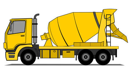 big truck: Cement mixer truck  Illustration