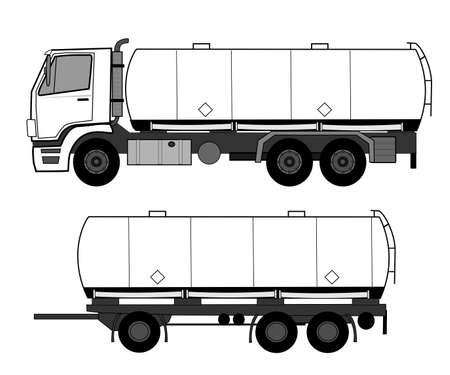 Caminhão-tanque Ilustração