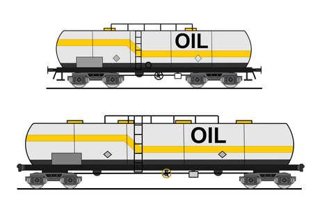 Automóvel europeu e americano cisterna estilo Ilustração