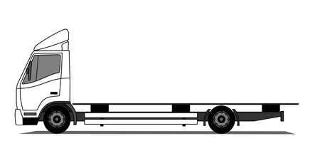 big truck: A side illustration of empty truck