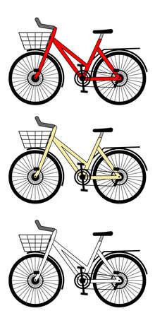 A figura ao lado de bicicletas da cidade Ilustração