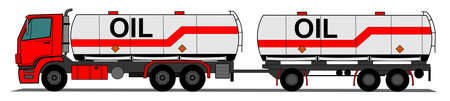 tank ship: A side illustration tank truck Illustration
