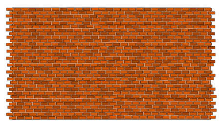A illustration of red brick wall