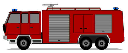 A illustration of fire truck Stock Vector - 18691117