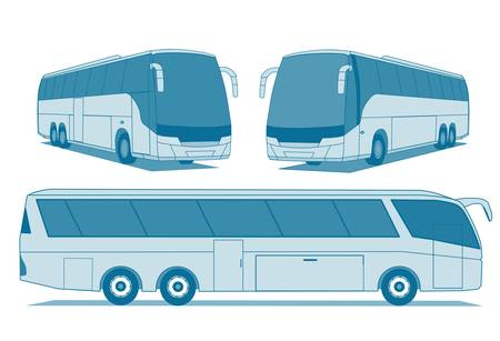 A illustration of coach buses