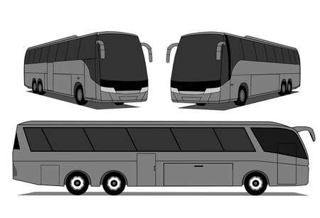 A ilustração de autocarros