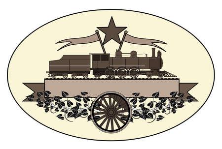 Logotipo locomotiva Vintage