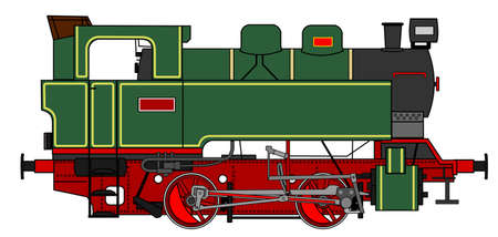 locomotive: A side illustration of vintage steam locomotive