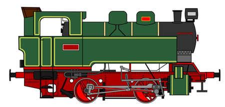 locomotora: Una ilustraci?n del lado de la locomotora de vapor de ?poca Vectores