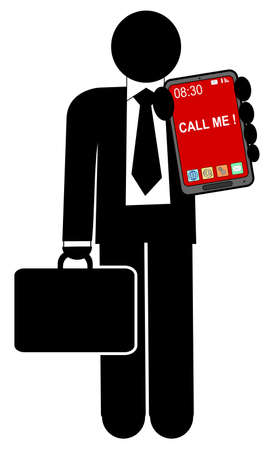 A illustration of man with mobile phone Vector