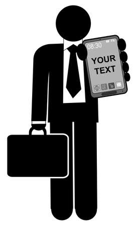 A illustration of man with mobile phone Stock Vector - 21432115