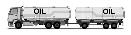 sloping: A side illustration of tank truck