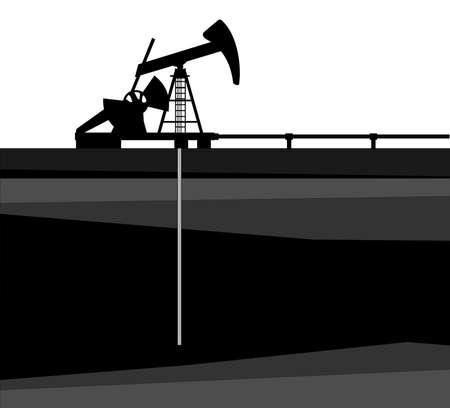 yacimiento petrolero: Una ilustración de la bomba de aceite