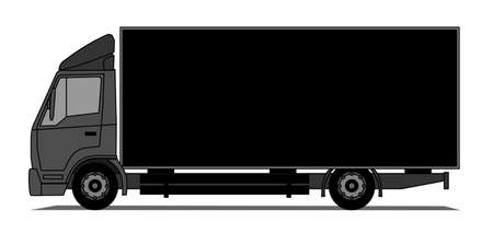 A illustration of black box truck.