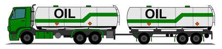 A side illustration tank truck Illustration