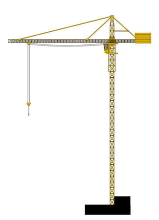 A illustration of high crane Vector