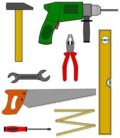 A set of home tools.