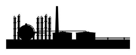 A illustraton of petroleum refinery