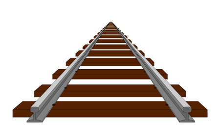 railroad track: A perspective illustration of track