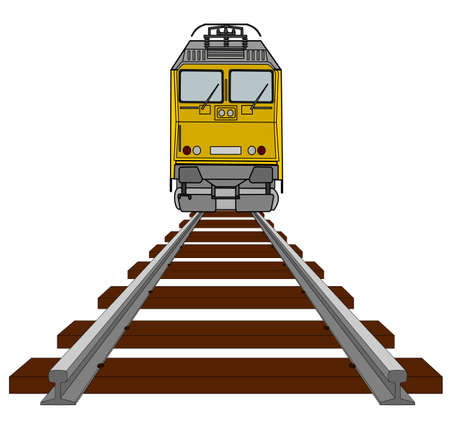 A illustration of electrical locomotive