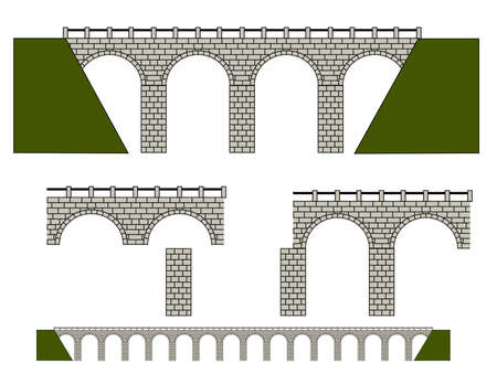 stone arch: Built your ovn bridge. Illustration