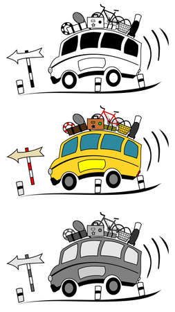 Een illustratie van de cartoon coachs Stock Illustratie