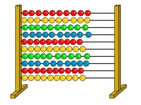 A illustration of abacus Vector