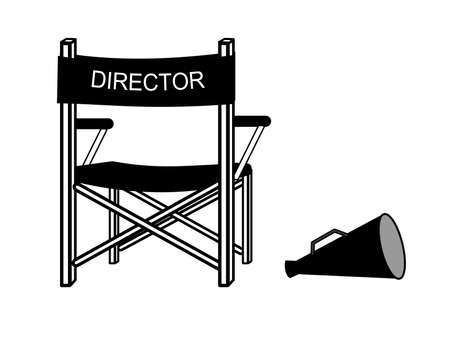 film role: A illustration of movie director chair Illustration