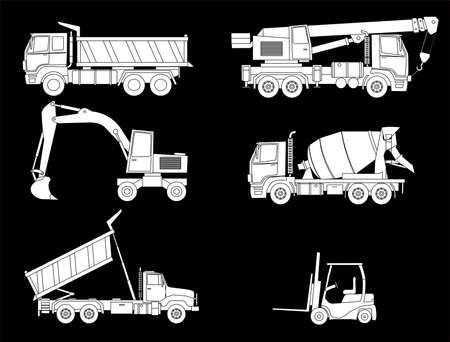 Illustration of constructions machines Vector