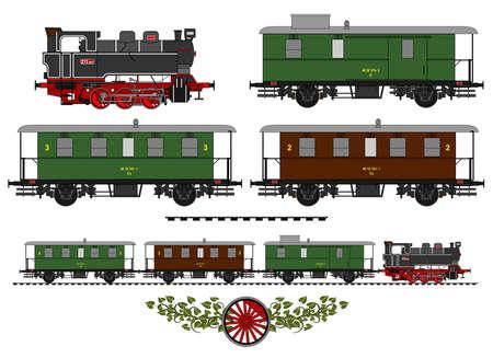 A side illustration of vintage train.