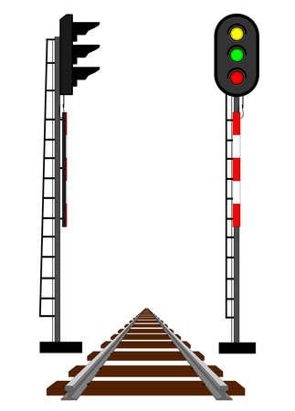 rail route: Rail semaphores and rail