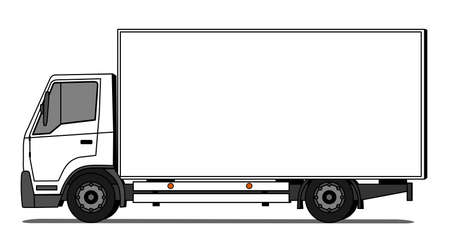 Side illustration of delivery truck