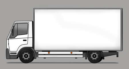 cargo truck: Side illustration of delivery truck