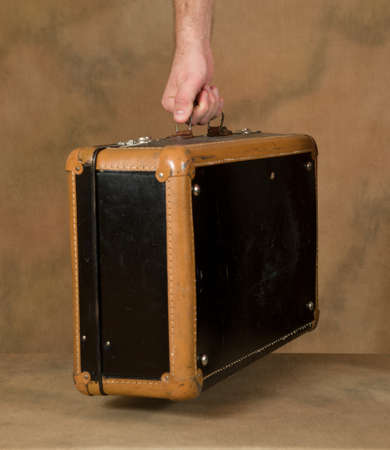 Man holding a suitcase