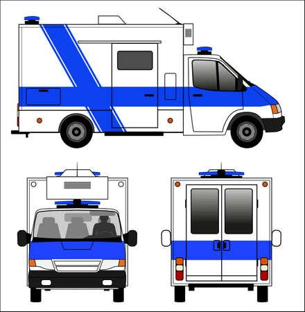 ambulance car: Emergency ambulance car