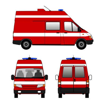Small fire truck Illustration