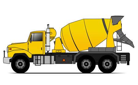camión de cemento al estilo americano Ilustración de vector