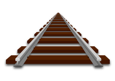 railroad: A perspective illustration of track