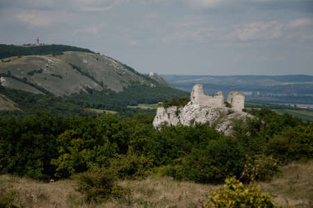 Czech republic, south Moravia, Pálava region, castle Sirot?í hrádek, Stock Photo
