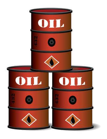 barell: Red oil barrels Illustration