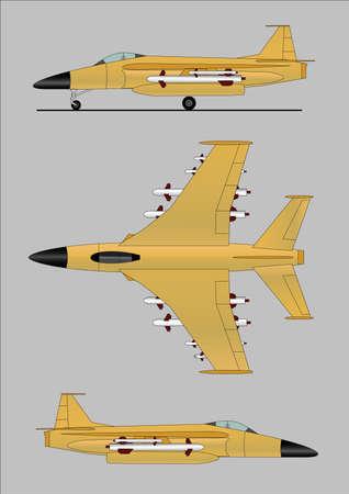 軍のジェット機