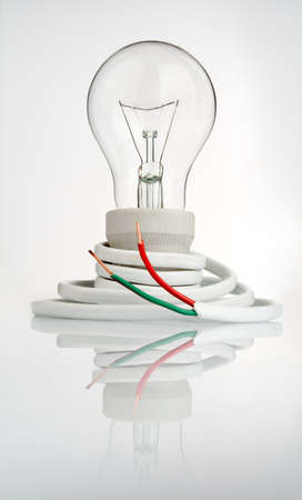 light bulb with cable Stock Photo