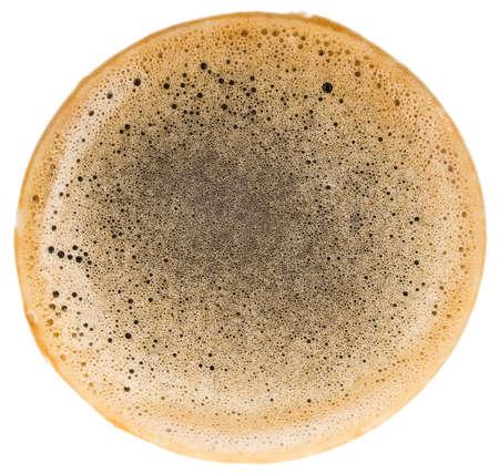 coffee foam isolated on white background Reklamní fotografie