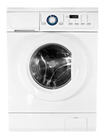 washing machine isolated on white background Stock Photo