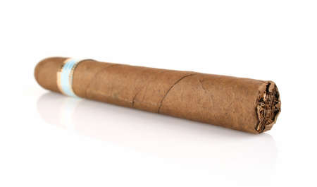 unwholesome: thick cigar isolated on white background